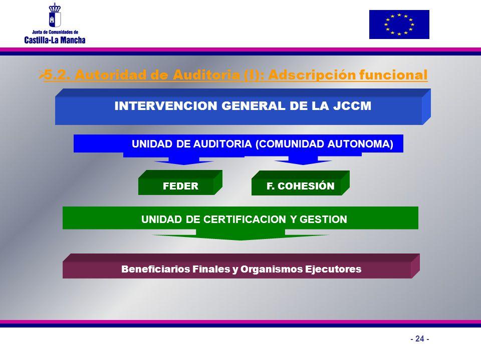 5.2. Autoridad de Auditoria (I): Adscripción funcional