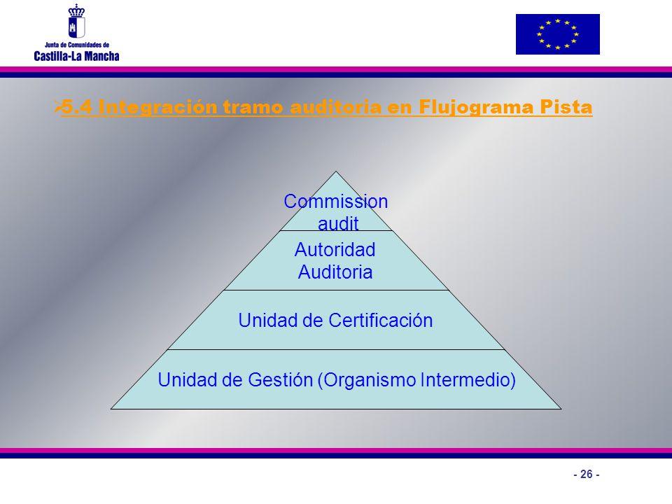 5.4 Integración tramo auditoria en Flujograma Pista