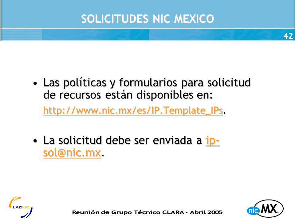 SOLICITUDES NIC MEXICO
