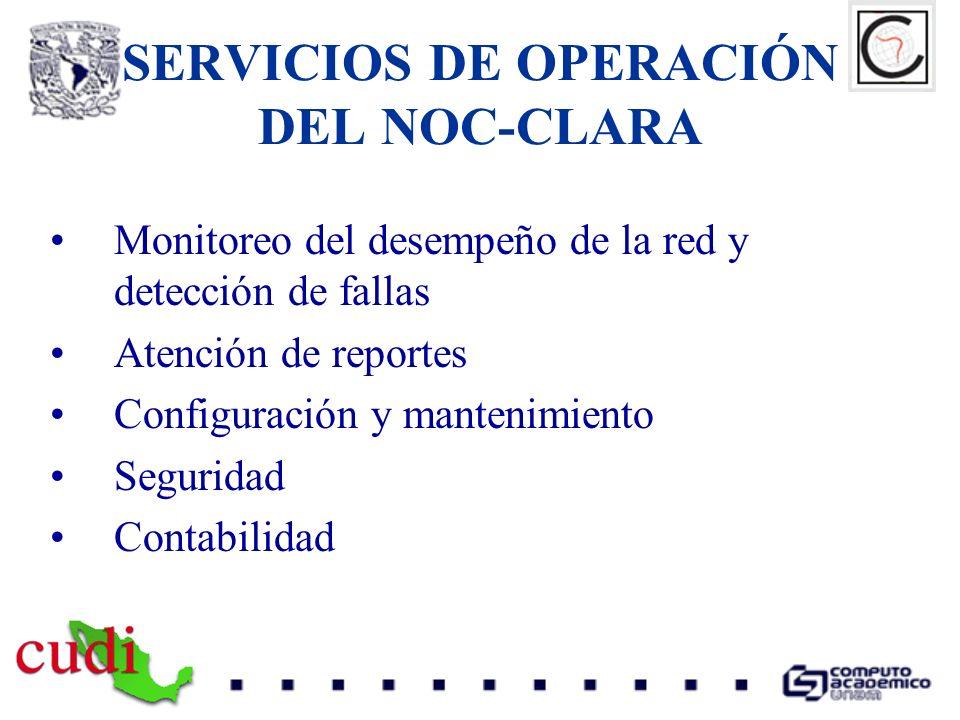 SERVICIOS DE OPERACIÓN DEL NOC-CLARA