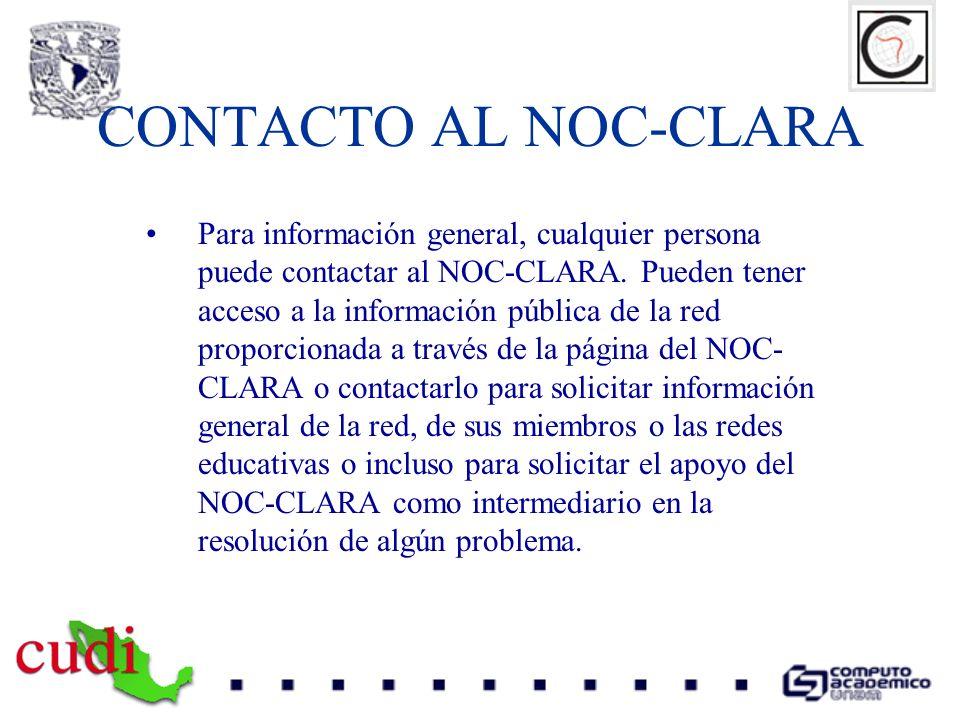 CONTACTO AL NOC-CLARA