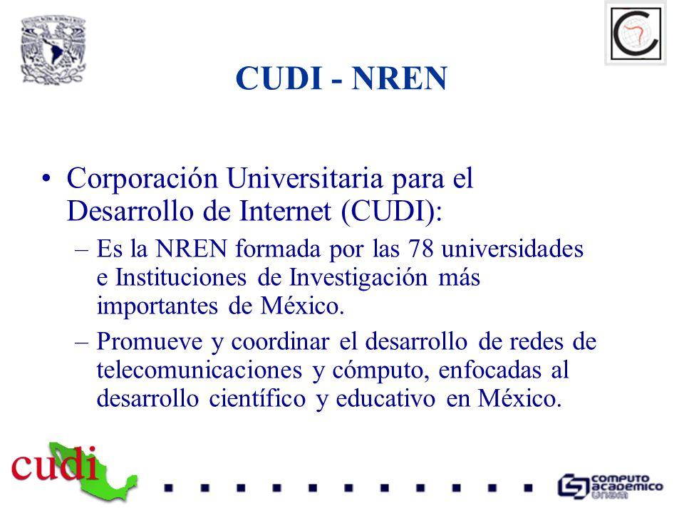 CUDI - NREN Corporación Universitaria para el Desarrollo de Internet (CUDI):