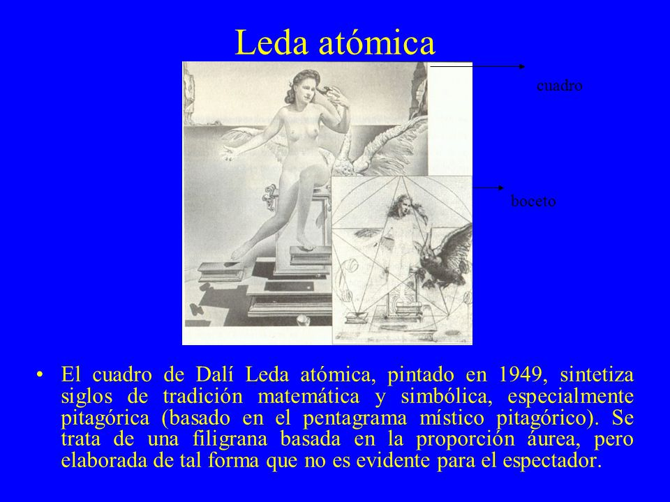 Leda atómica cuadro. boceto.