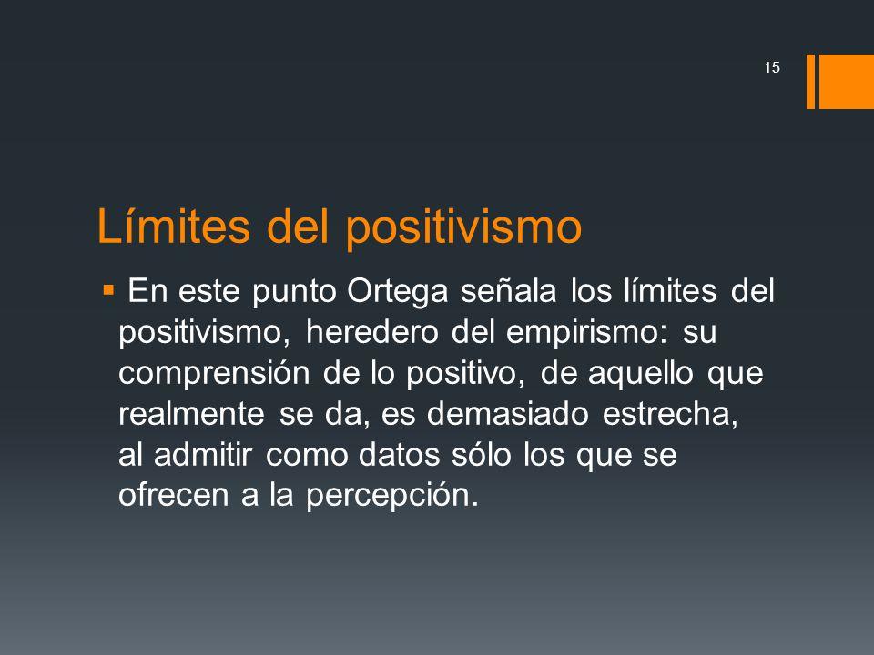 Límites del positivismo