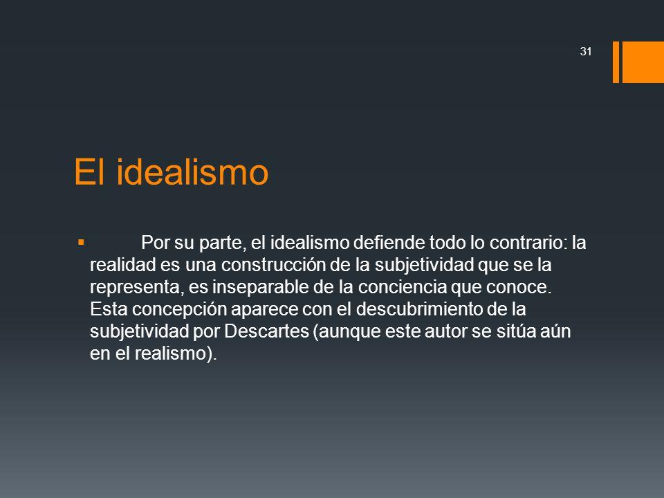 El idealismo