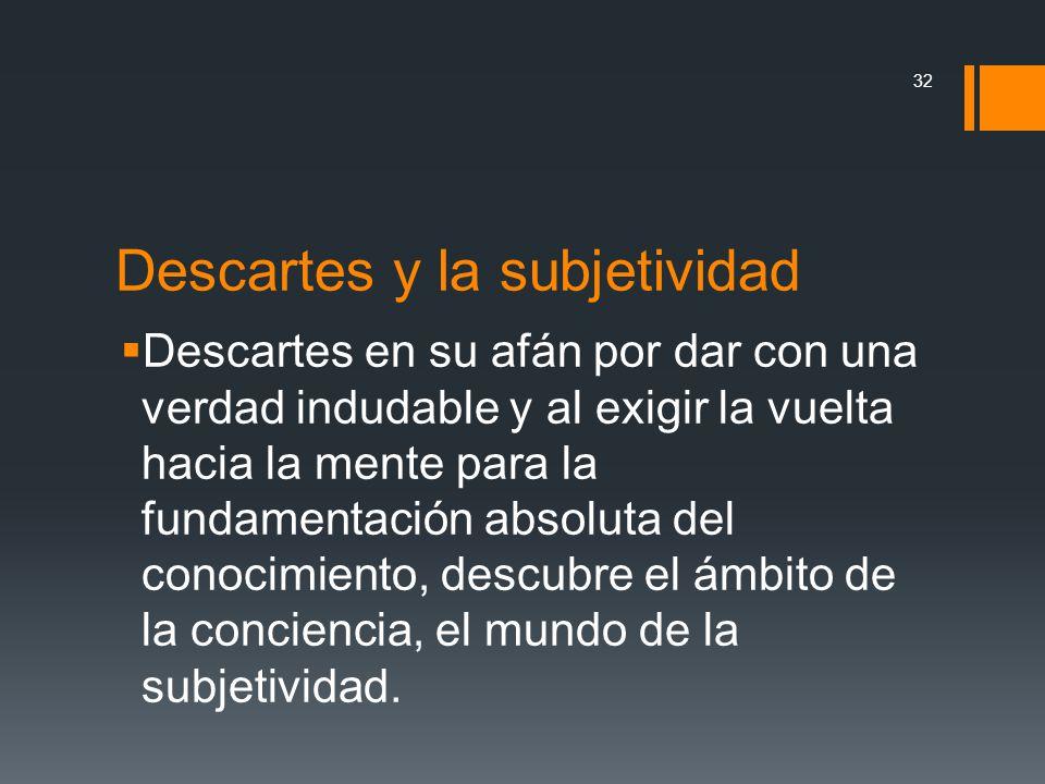 Descartes y la subjetividad