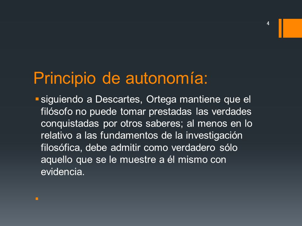 Principio de autonomía: