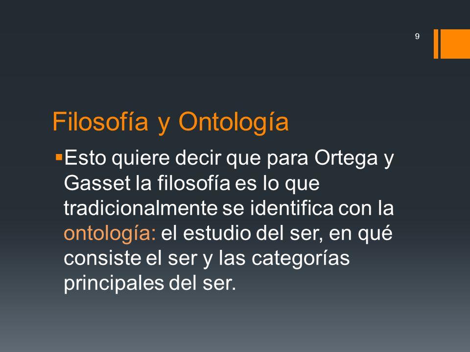Filosofía y Ontología
