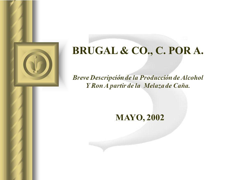 BRUGAL & CO., C. POR A. Breve Descripción de la Producción de Alcohol. Y Ron A partir de la Melaza de Caña.