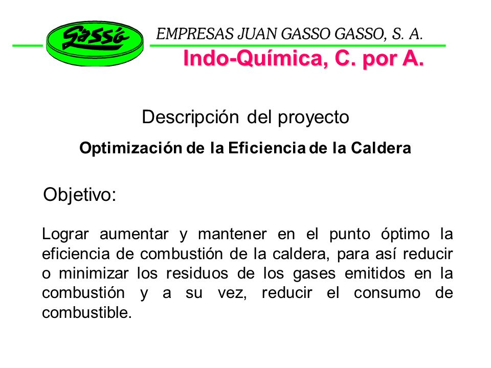 Optimización de la Eficiencia de la Caldera