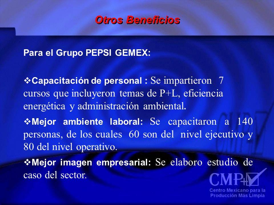 Otros Beneficios Para el Grupo PEPSI GEMEX:
