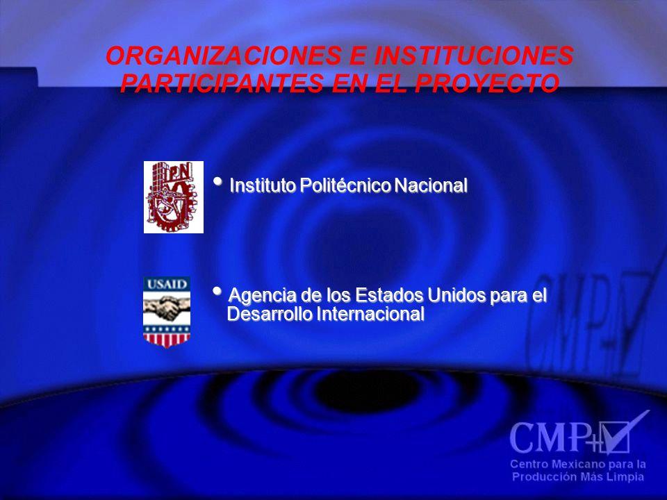 ORGANIZACIONES E INSTITUCIONES PARTICIPANTES EN EL PROYECTO