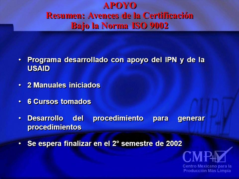Resumen: Avences de la Certificación