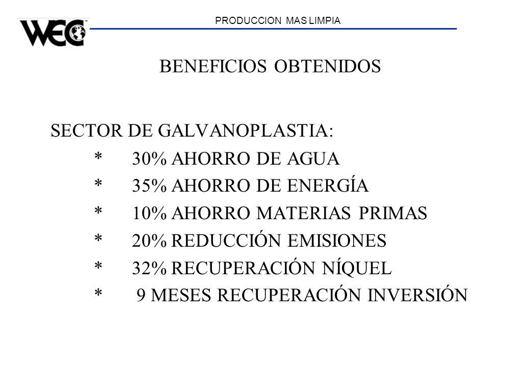 SECTOR DE GALVANOPLASTIA: