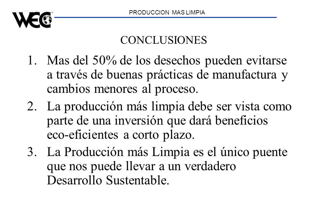 PRODUCCION MAS LIMPIA CONCLUSIONES.