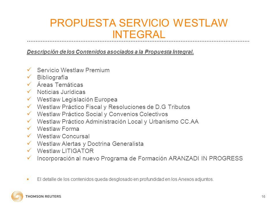 PROPUESTA SERVICIO WESTLAW INTEGRAL