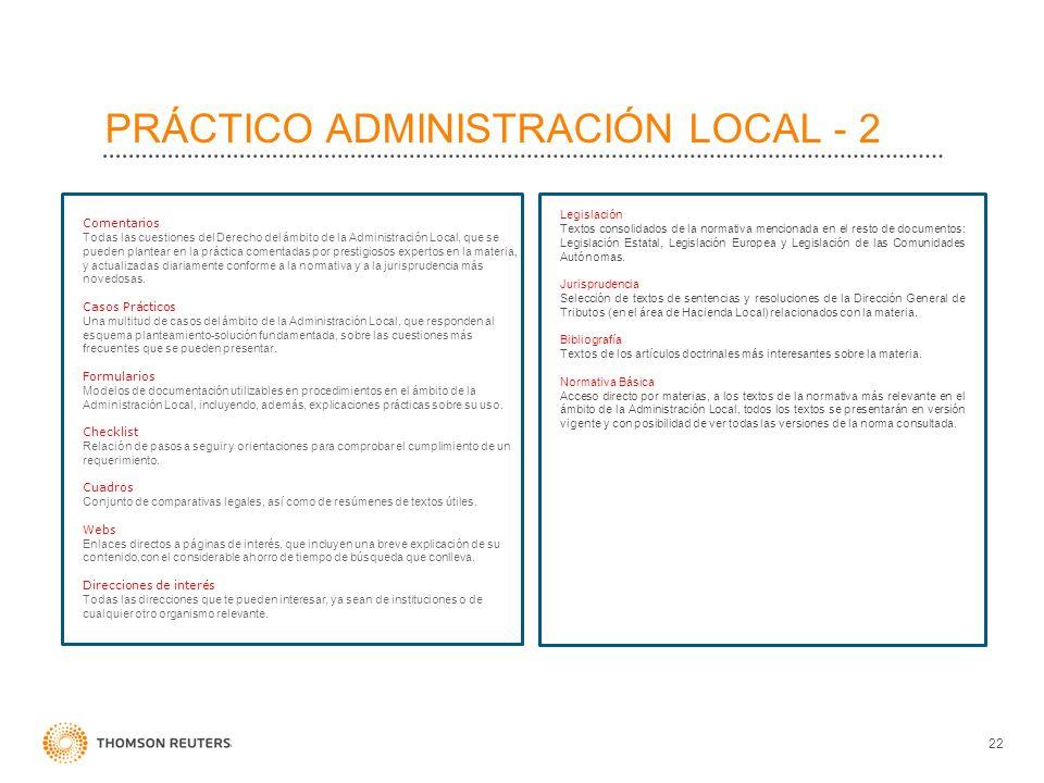 PRÁCTICO ADMINISTRACIÓN LOCAL - 2