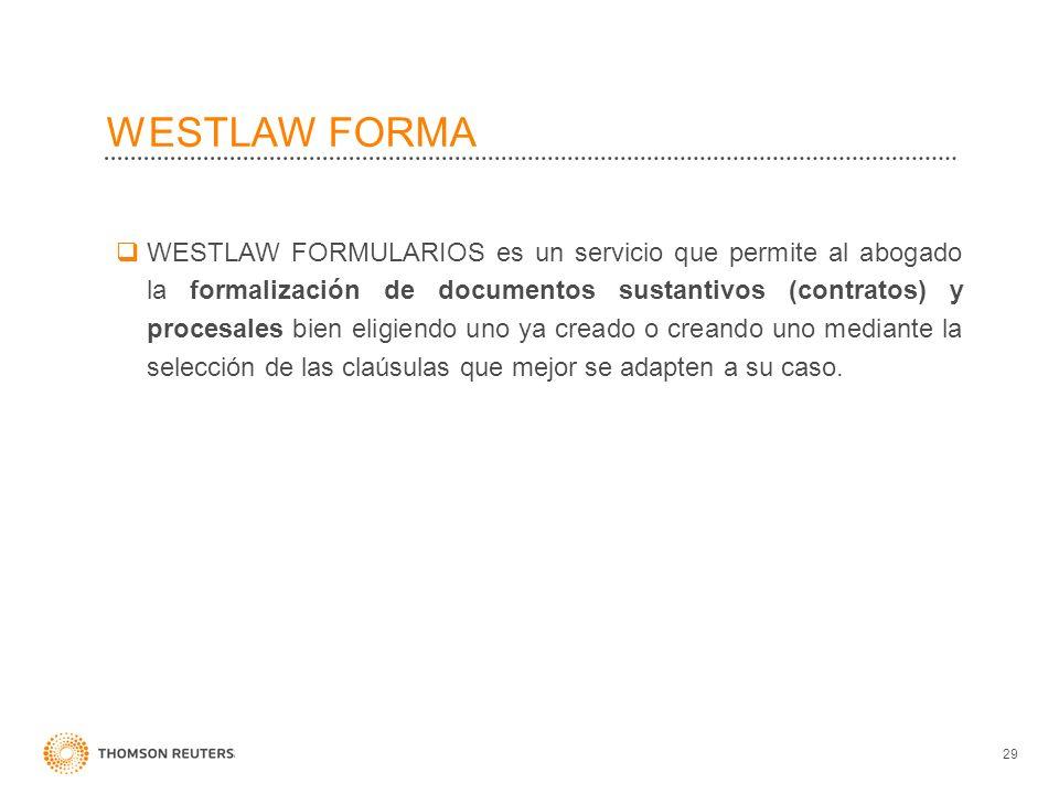 WESTLAW FORMA