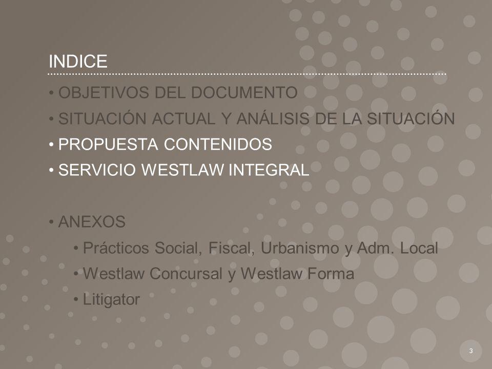 INDICE OBJETIVOS DEL DOCUMENTO
