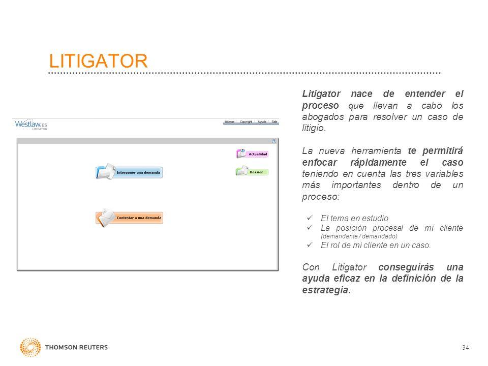 LITIGATOR Litigator nace de entender el proceso que llevan a cabo los abogados para resolver un caso de litigio.