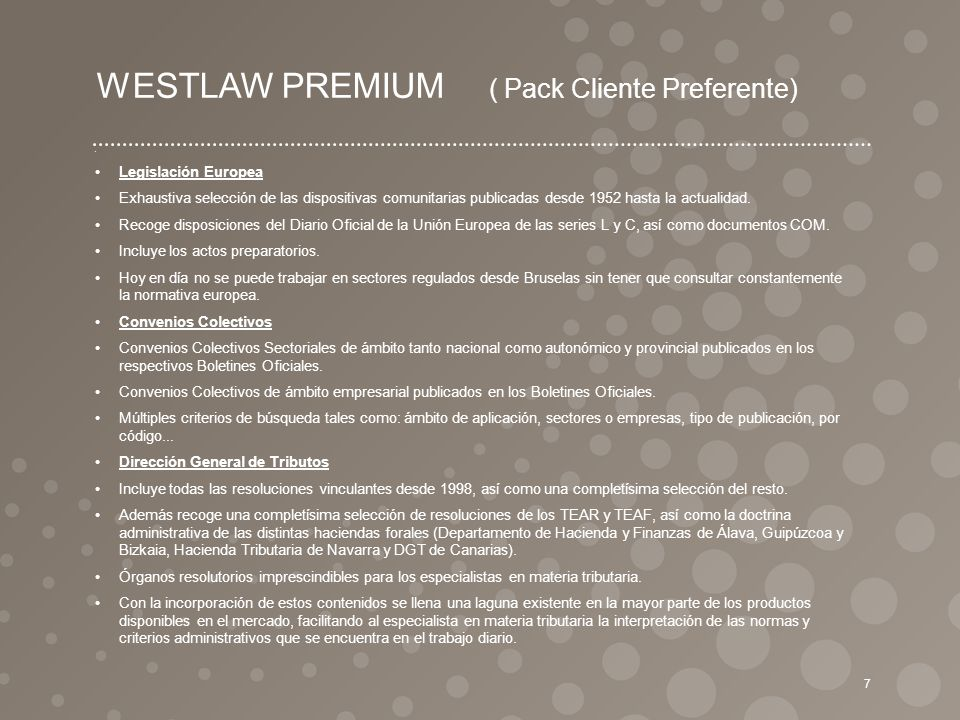 WESTLAW PREMIUM ( Pack Cliente Preferente)