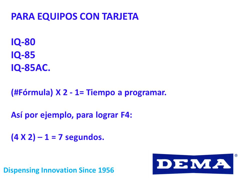 PARA EQUIPOS CON TARJETA IQ-80 IQ-85 IQ-85AC.