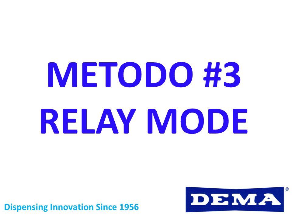 METODO #3 RELAY MODE Dispensing Innovation Since 1956