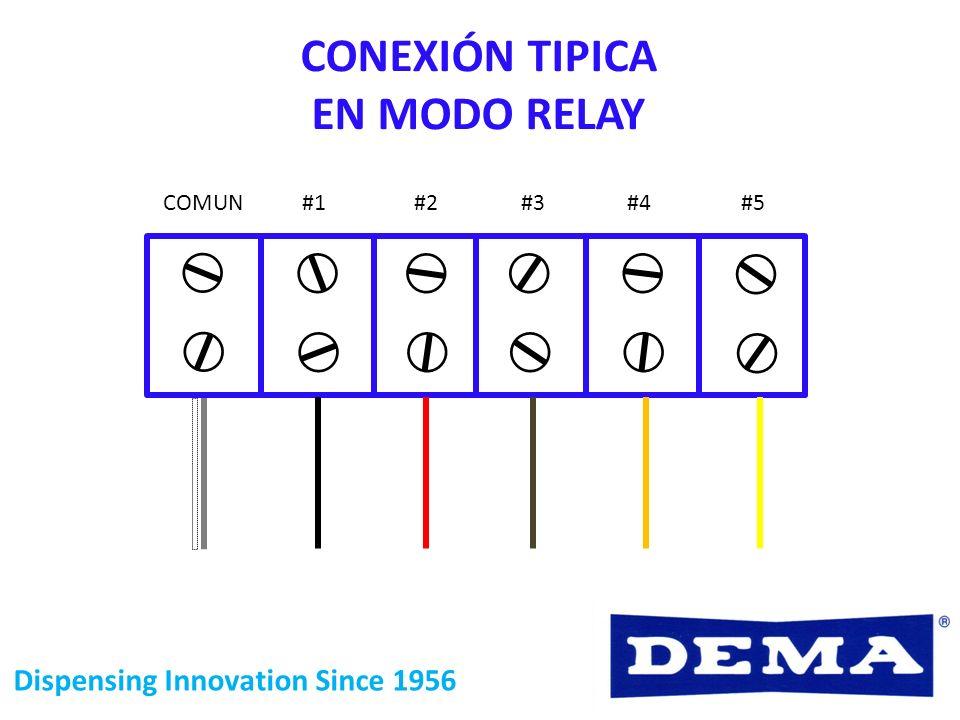 CONEXIÓN TIPICA EN MODO RELAY
