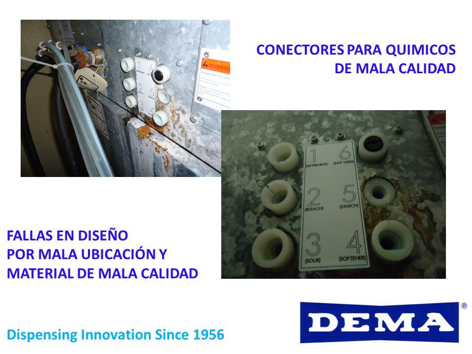 CONECTORES PARA QUIMICOS DE MALA CALIDAD