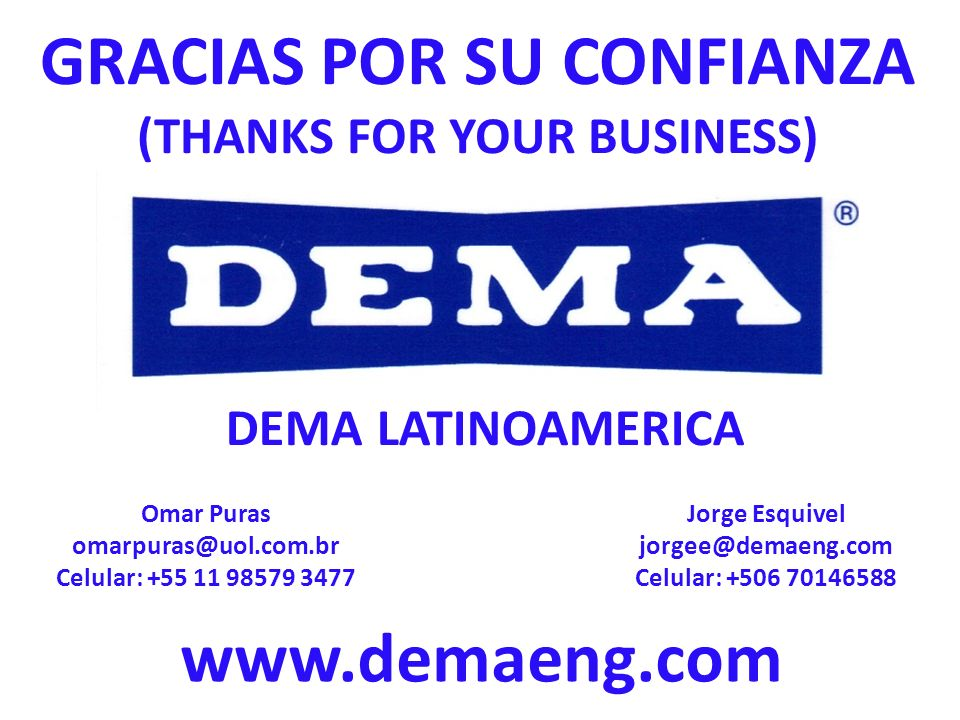 GRACIAS POR SU CONFIANZA (THANKS FOR YOUR BUSINESS)