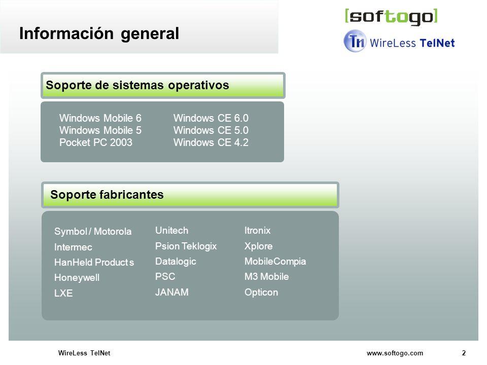 Información general Soporte de sistemas operativos Soporte fabricantes