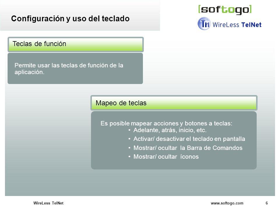Configuración y uso del teclado