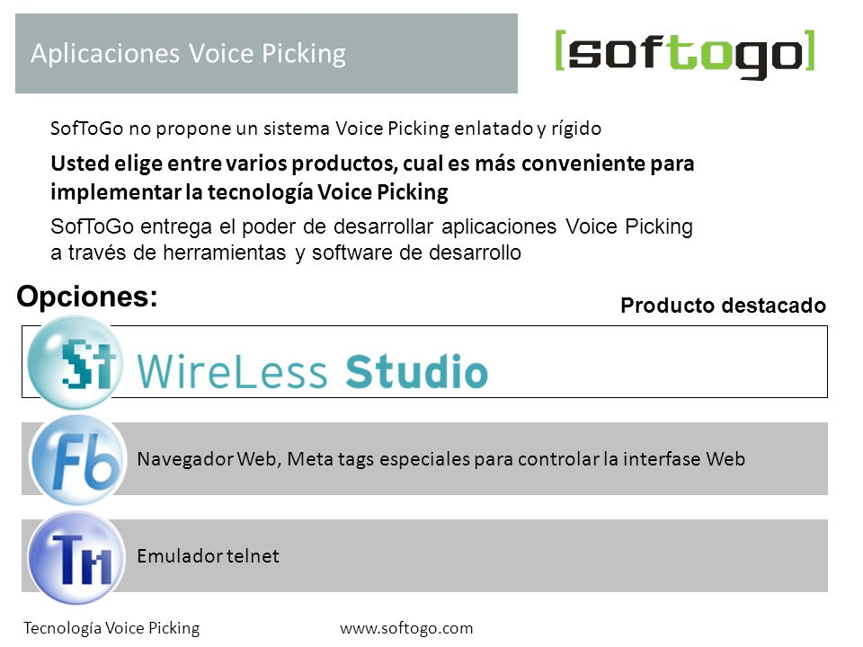 Aplicaciones Voice Picking
