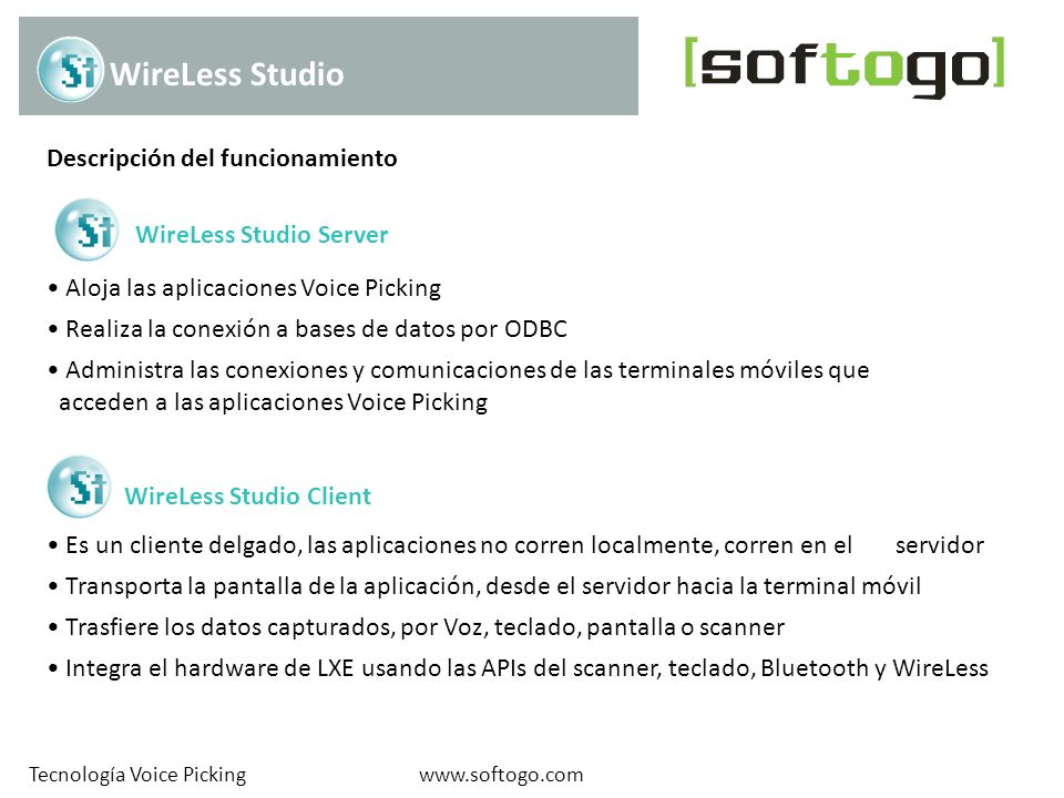 WireLess Studio Descripción del funcionamiento WireLess Studio Server
