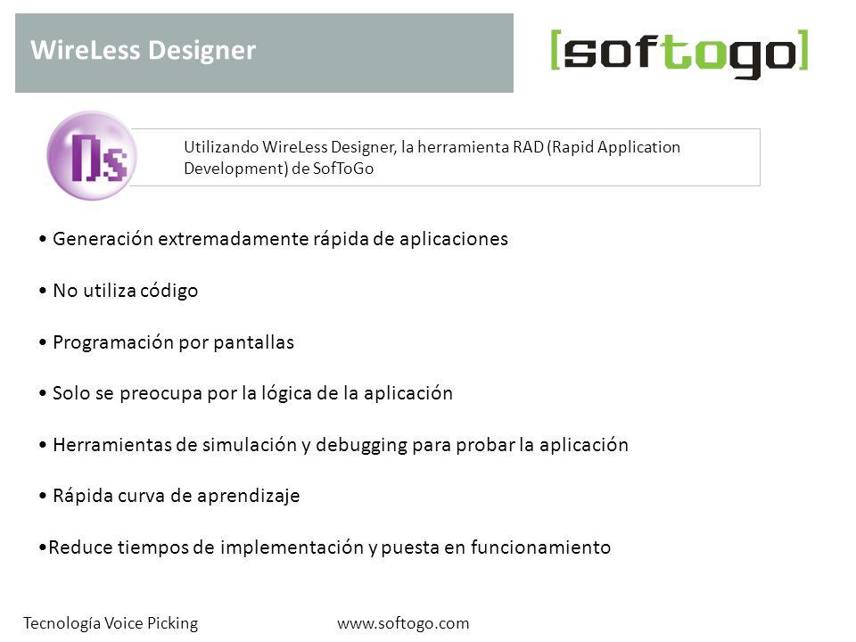 WireLess Designer Generación extremadamente rápida de aplicaciones