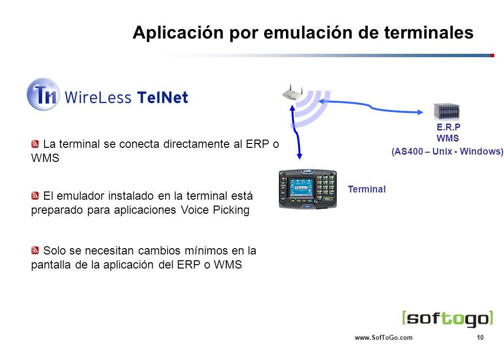 Aplicación por emulación de terminales