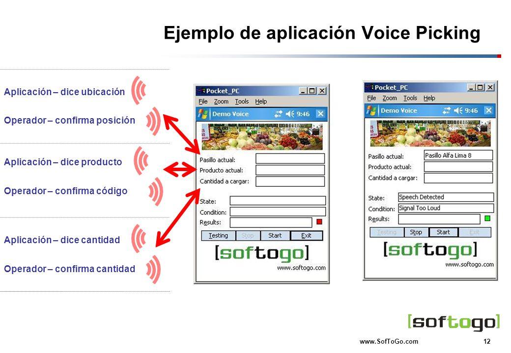Ejemplo de aplicación Voice Picking