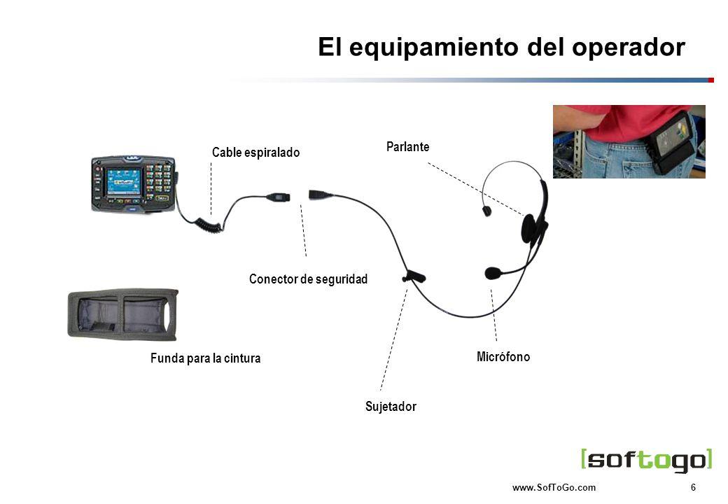 El equipamiento del operador