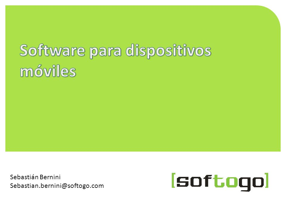 Software para dispositivos móviles