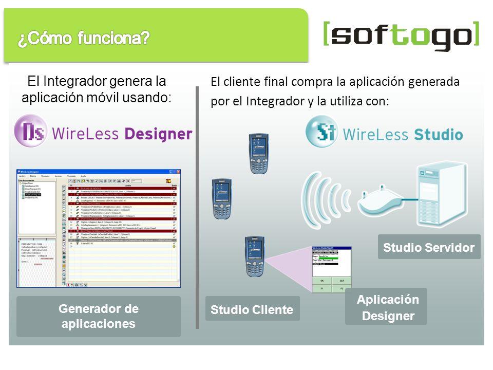 El Integrador genera la aplicación móvil usando: