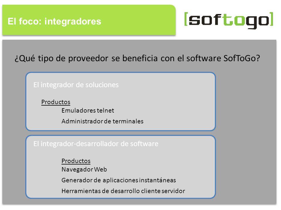 ¿Qué tipo de proveedor se beneficia con el software SofToGo