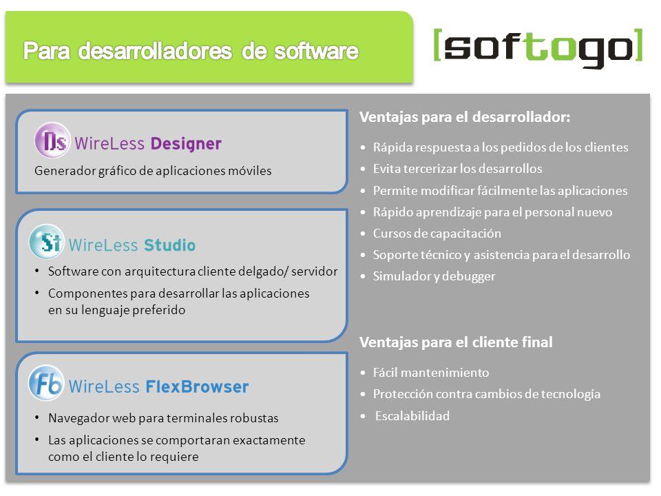 Para desarrolladores de software