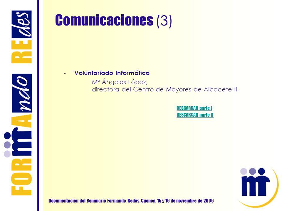 Comunicaciones (3) Voluntariado Informático