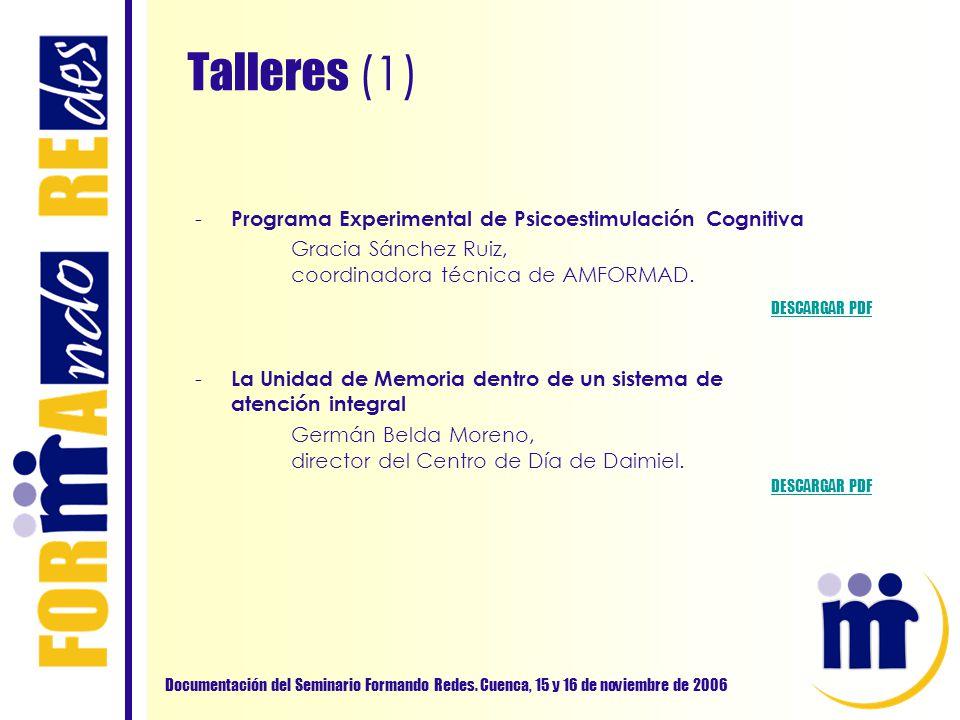 Programa Experimental de Psicoestimulación Cognitiva