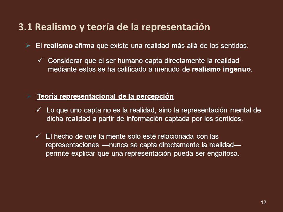 3.1 Realismo y teoría de la representación