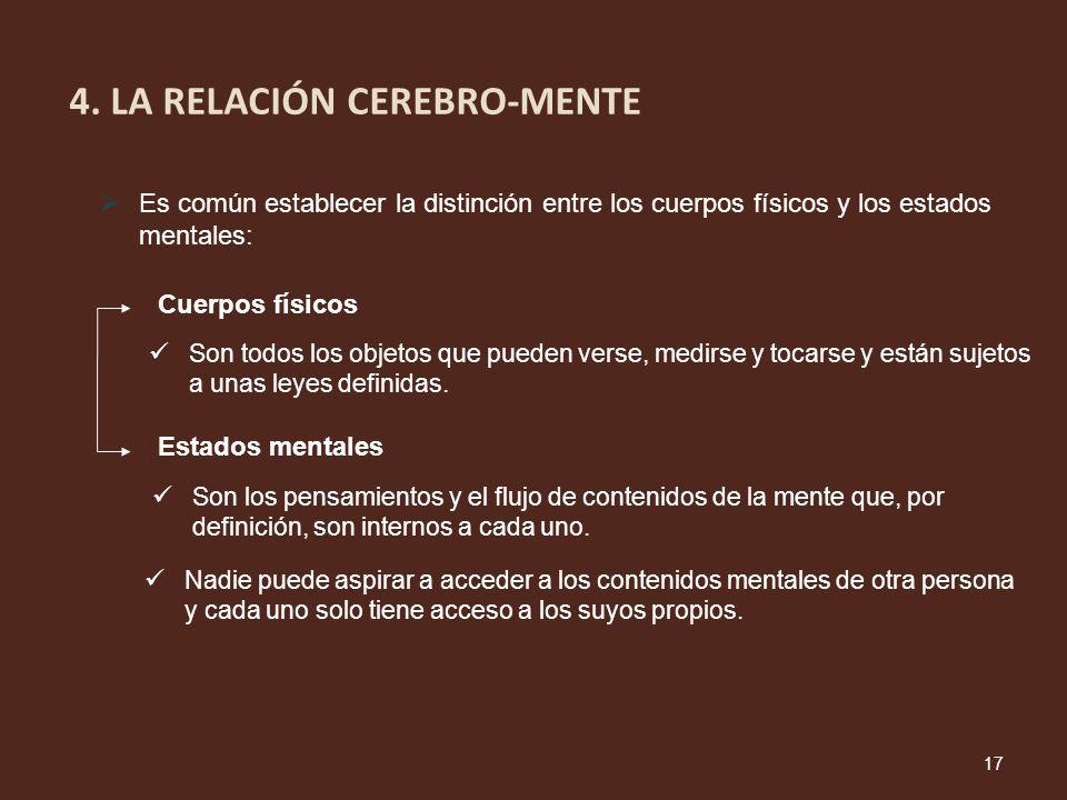 4. LA RELACIÓN CEREBRO-MENTE