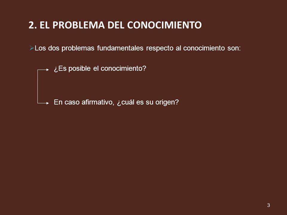 2. EL PROBLEMA DEL CONOCIMIENTO