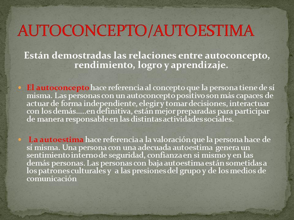 AUTOCONCEPTO/AUTOESTIMA