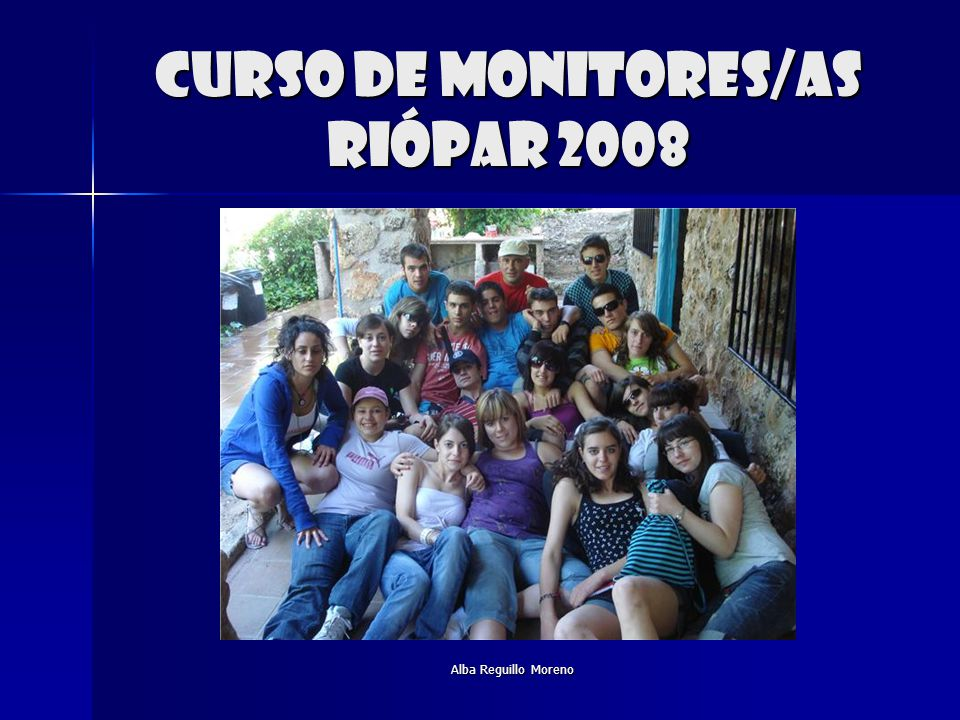 Curso de monitores/as riópar 2008
