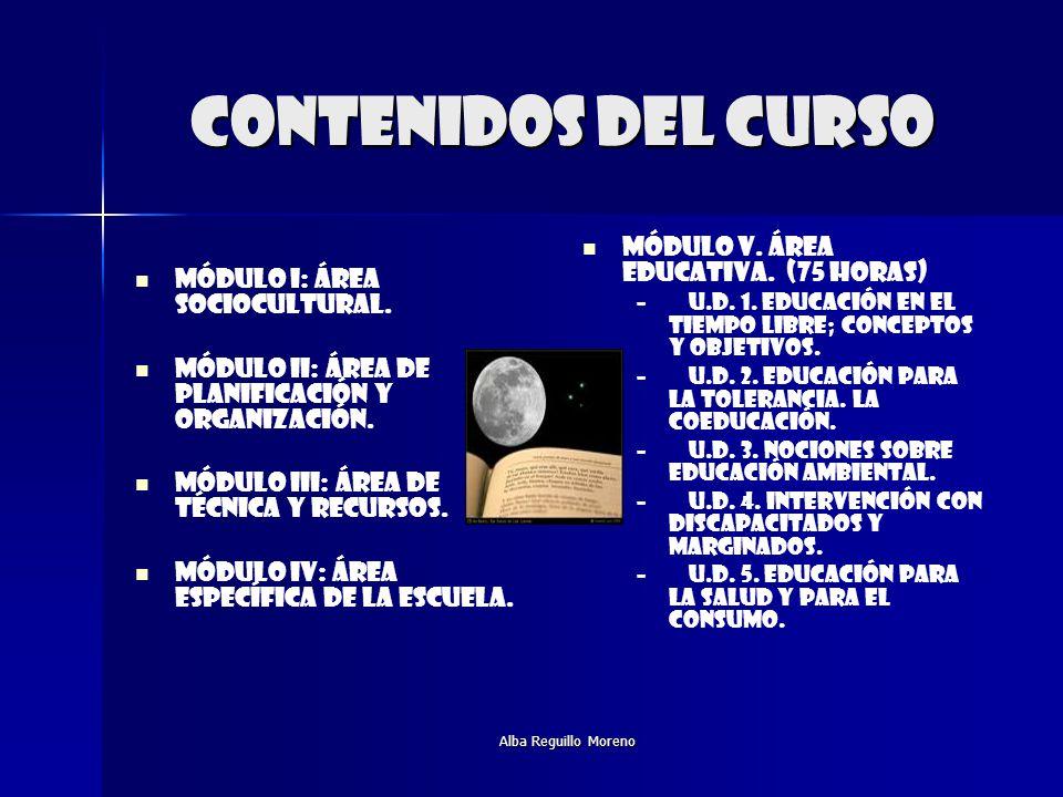 Contenidos del curso Módulo v. Área educativa. (75 HORAS)
